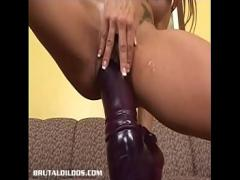 Good videotape recording category big_tits (490 sec). Busty Shannon Kelly gaped by the mother of all brutal dildos.