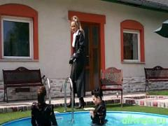 Best seductive video category lesbian (360 sec). punishment by the pool.