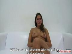 Nice sexual video category blowjob (456 sec). Brunette Will Suck And Fuck For The Job Hd.