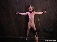 Super video link category bdsm (308 sec). Babe tormented in strict bondage.