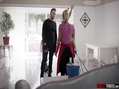 Nice amorous video category anal (360 sec). Young MILF maid double penetrated by two burglars raw.