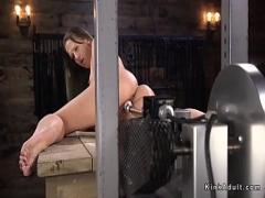 Adult x videos category sex_toys (326 sec). Hot ass brunette fucking machine.