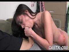 Sexy amorous video category cumshot (300 sec). Extraordinary Gia Paige blows packing monster ready for sex.