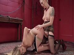 Free video link category bdsm (310 sec). Lesbian dom in lingerie anal fucks babe.