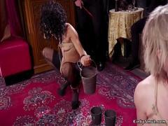 Sex romantic video category bdsm (310 sec). Submissive sluts banging at bdsm party.