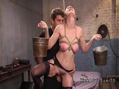 Embed pornography category bdsm (326 sec). Hot blonde submits to slave coach.