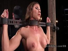 Stars amorous video category bdsm (326 sec). Hot busty slave in high heels whipped.