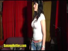 Download film category brunette (864 sec). Quickie at the banana CASTING.