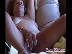 Cool tube video category mature (619 sec). Horny Granny Masturbating With Her Toys.