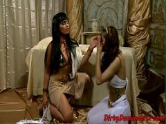 Nice youtube video category bdsm (370 sec). TT babe dominated over by lezdom queen.