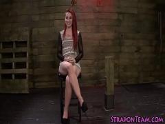 XXX x videos category bdsm (480 sec). Domina bangs tied slave.