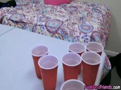 Nice erotic category teen (475 sec). Strip Beer Pong Turns Into Hot Orgy.