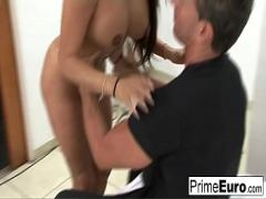 Good amorous video category sexy (475 sec). Busty MILF gets sprayed with cum after a hardcore fuck.