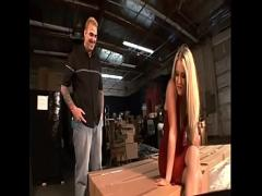 Full seductive video category anal (1481 sec). Young blonde Chelsie Rae works under notice late at night on the plant.